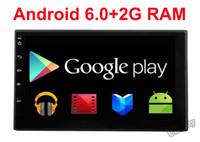 al por mayor doble din reproductor de dvd androide-2G RAM Quad core 2 din android 6.0 2din Nuevo coche universal doble coche reproductor de DVD GPS de navegación en el tablero de coches PC estéreo de vídeo