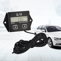 Wholesale Digital Tachometer with LCD Display Spark Engine RPM Tacho Tach Gauge Hour Meter Spin For Car Boat Motorcycle Bike