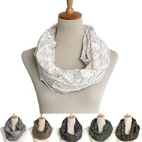 Ring Scarves Fashion Wholesale- 14 Colors Fashion Striped Scarves Bronzing Circle Loop Women Infinity Scarf Voile Snood For Ladies Shawl Cheap Scarfs
