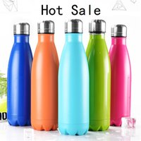 Wholesale New ml Vacuum Cup Coke Mug Stainless Steel Bottles Insulation Cup Thermoses Fashion Movement Veined B1124