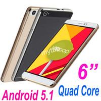 Appareil android avant Prix-6 pouces Jiake M8 Quad Core Android 5.1 Téléphone intelligent 3G double Sim 4 Go 512 m RAM Smart Wake 960 * 540 écran
