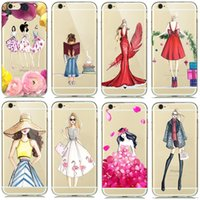 beach outings - Cases For Apple iPhone S SE S Plus Plus A Girl Summer Outing Travel Relax Beach Transparent Soft Silicone Phone Case
