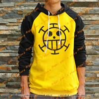 animal laws - ONE PIECE Trafalgar Law Yellow BLACK Long sleeve Cotton thicken Hoodies Sweatshirts cosplay costume