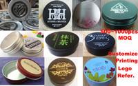 Wholesale 1 Color Printing Bulk Jars Service Cosmetic Aluminum Jar Cap Customized Logo g g g g g Cosmetic Bottles Print Logo
