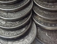 electroplate art gift sets - Hot Selling US Coins A SET OF Morgan Dollars mint dates Promotion Cheap Factory Price nice home Accessories Silver Coins