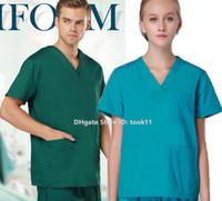 beauty suit pants - Nurse uniform uniformes hospital women nursing scrubs lab coat spa dental clinic beauty salon medical clothing surgical suit medical gowns