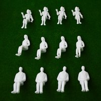 architectural model figures - miniature all sitting white figures Architectural model human scale HO model ABS plastic people