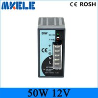 Wholesale 50W V V V Mini size Din Rail Single Output Switching power supply V input small size single output
