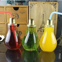 art glass vases - Drinking Glass Drinkware Light Bulb Drinking Jar Tea Fruit Juice Drink Bottle Cup Plant Flower Glass Vase Home Office Decoration