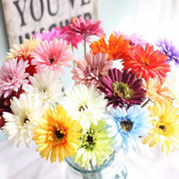 Wholesale Fashion Artificial Flower With Colors Option Gerbera Fake Silk Flowers Colorful for Birthday wedding Party Home Decoration