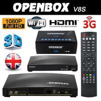 Wholesale 20PCS Openbox V8S k Satellite Receiver HD Set Top Box S V8 S V8 Support WEB TV x USB Slot Biss Key WIFI G Youtube Youporn CCCAMD NEWCAMD
