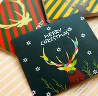 Wholesale 5PCS Mini Kawaii Christmas Greeting Card With Paper Envelope For Birthday Christmas Gifts Invitation Cards Decoration