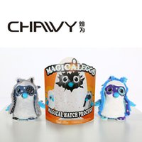 Wholesale 2017 hot selling magical hatchim toys suprised puzzles girl egg toy kids educational toy suprise birthday gift white blue owl for kidsa