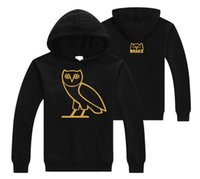 Wholesale 2017 New Men s Printing Add Cotton Fleece Casual Sets The Owl Sweatshirt Hip Hop Sports Tracksuit Shark Solid palace thrasher Hoodies