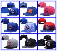animal visors - Chicago Cubs Snapback Hats Embroidery Logo MLB Men s Sports Adjustable Baseball Caps Hip Hop Flat Visor Send In Box