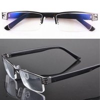 Wholesale Fashionable The Old Man New Blue Film Resin Reading Glasses Metal Half frame Hankuang Glasses High end Trend Presbyopic Glasses