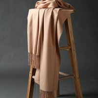 Wholesale Cashmere scarf Tassels women color Thickened cashmere scarf All match warm shawl