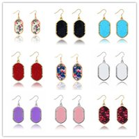 Wholesale Hot Kendra Scott Earring Gold and Silver Plated Geometry Stone Cute gift for women and hign quality