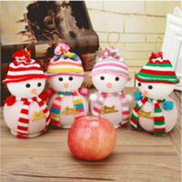 apple tree products - Christmas Products The Snowman Eve Apple Bags Of Christmas Scene Decoration Supplies Christmas Gifts