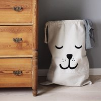 baby pouch pattern - Christmas Cute Baby Toys Storage Canvas Bags Batman Bear Pattern Laundry Bag Pouch Baby Kids Toys Storage Bag Cute Wall Pocket