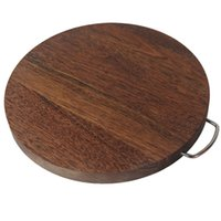 Wholesale Best Cutting Board Chopping Block Natural Wenge Wood Kitchen Must Have Makes a Great Gift for Home Cooks and Chefs Circular