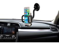 al por mayor marcos de fotos para coches-Marco universal de la foto Soporte del teléfono del coche del parabrisas para el tubo flexible 360 Soporte giratorio del lechón Soporte del soporte de la ventana del GPS