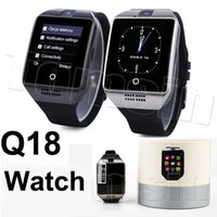 2.5D IPS Touch Screen Q18 Bluetooth Smart Watch Support Carte SIM NFC Connection Smartwatches de santé pour Android Smartphone avec paquet