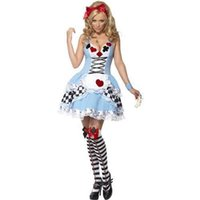 Wholesale 2015 new arrive Alice In Wonderland Dress Lolita sexy Dress Maid Cosplay Fantasia Carnival Halloween Costumes For Women Plus Size M L XL