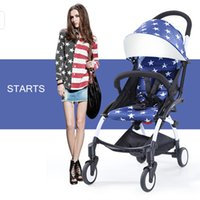 Wholesale Fashion hot mom stroller quality luxury but cheap price baby carriages prams portable Light folding children european stroller
