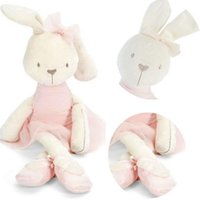 Wholesale Cute Rabbit Baby Soft Plush Toys Brinquedos Plush Animal Rabbit Bunny Stuffed Toys sleeping comfort doll Gift for Kids girls Y3