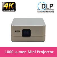 Vente en gros Mini Portable Pico projecteur Android sans fil Projecteur Wifi Bluetooth HDMI USB DLP Projecteur 2600mah Batterie pour vidéo