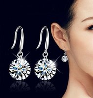 Wholesale Top Sale Silver Earrings for Women Long Drop Earings Brincos Jewelry Pendientes Wedding Jewelry Accessories