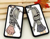 Precio de Casos del corazón iphone 4s-Corazón femenino de los mejores amigos de Besties BFF 2pcs / lot que hace juego las cajas suaves del teléfono de TPU para el iPhone 6 6S más 7 7 más la cubierta de 5S 5C SE 4 4S