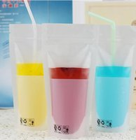 Scrub beverage bags - 12 white frosted transparent self sealing beverage bag