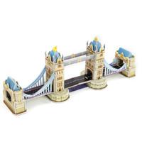 architecture cartoon - New DIY D Metal Puzzle Tower Bridge Model Toys For Children Adult Cartoon Architecture Educational Toys Construction Puzzles