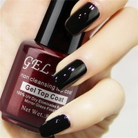 Wholesale Gel Len Non Cleansing Mirror Glass Finish Gloss Top Coat Gel LED UV Top Gel Shinning Cover Top Coat
