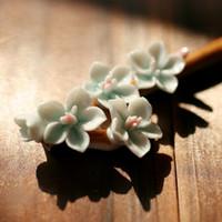 amber bud - Bob Jingdezhen classic ceramic ceramic jewelry ceramic Fazan bud Chuzhan light blue Valentine