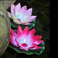 Wholesale Diameter cm LED Lotus Lamp in Colorful Changed Floating Water Pool Wishing Light Lamps Lanterns for Party Decoration ZA1850