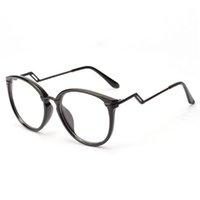 al por mayor oculos empollón-Venta al por mayor- Unisex hombres de las mujeres retro gafas de Nerd redondo Curving Earstems Semi marco de metal Gafas Oculos Feminino Y8