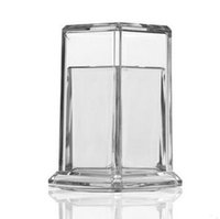 Wholesale New Plastic clear Toothpick Holder dispenser Box pc