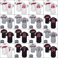 Wholesale 2016 World Series Men s Cleveland Indians Kenny Lofton Francisco Lindor Jason Kipnis Brantley Corey Kluber Andrew Miller baseball jerseys