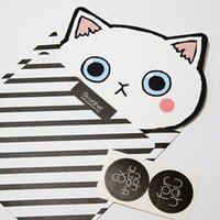 Wholesale South Korea stationery andcabinet cute cat creative birthday wishes to thank card card card postcard