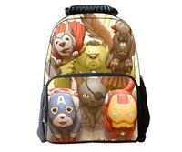 Wholesale Primary School Children s Cartoon Q Edition Animal Avenger Iron Man Personalized Shoulder Bag Teenager Outdoor Sports Bag Shoulder Bag
