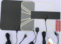 Wholesale Factory supply miles HD digital Indoor TV antenna VHF UHF50 miles receive antenna us