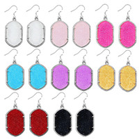 Wholesale Kendra Scott Style Earrings Man made Acrylic Chandelier Silver Plated Color Bulk Price