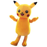 Wholesale Pikachu Mascot Costumes Cartoon Character Adult Sz Real Picture