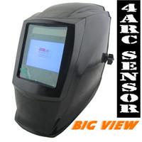 arc tig welder - Accessories Arc sensor big sreen Solar LI battery auto darkening TIG MIG MMA MAG electric welding mask helmets welder cap welder glasses