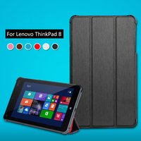 Wholesale For Lenovo Thinkpad quot Tablet Luxury PU Leather Case Thinkpad8 Stand Cover Protective Shell