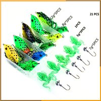 bass fishing with frogs - 20pcs Frog Fishing Lure Bait Lead Hook Soft Lures with Gift Retail Box Artificial Frog Bait Bass Bait Lead Head Hooks with Box
