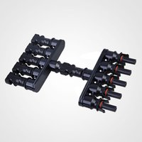 Wholesale High Quality Solar Panel MC4 to T Branch Connectors Cable Coupler Combiner battery terminal Connector Conectores Electricos pair
